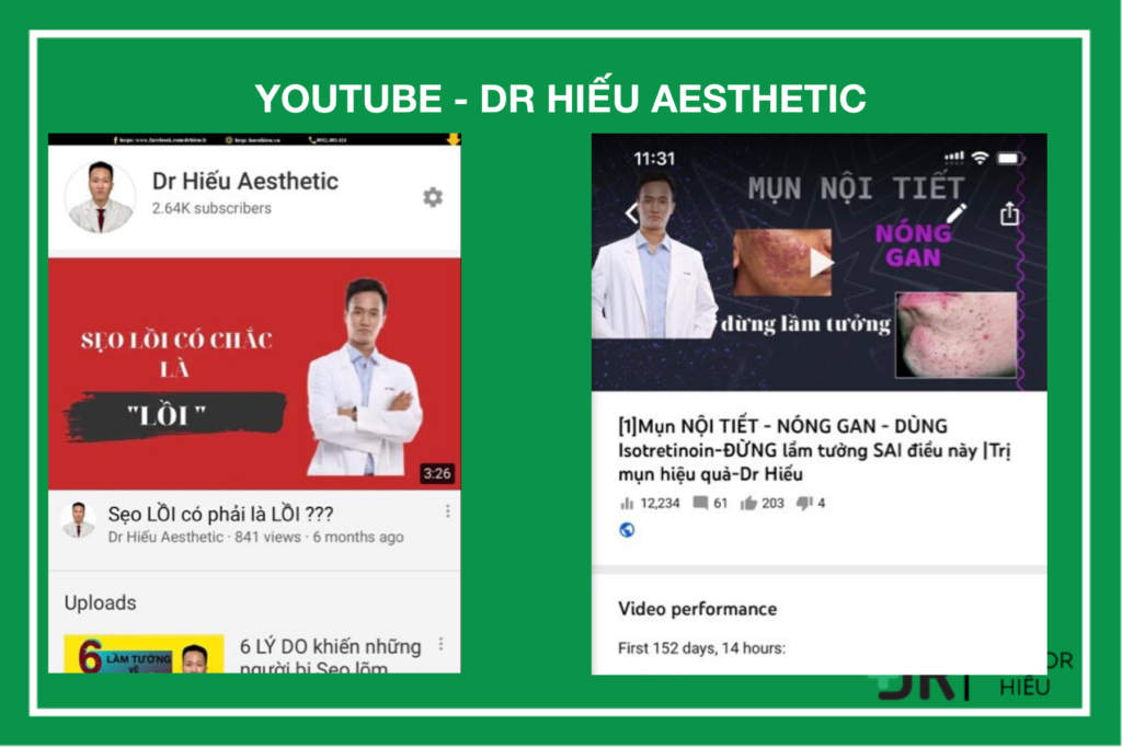 Youtube Bs Hiếu: Dr Hiếu aesthetic