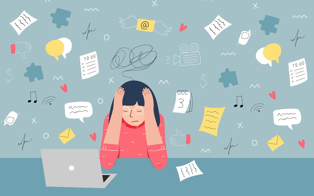 Stress trong công việc, hay phải thức đêm nên bị mụn nhiều hơn , nóng gan